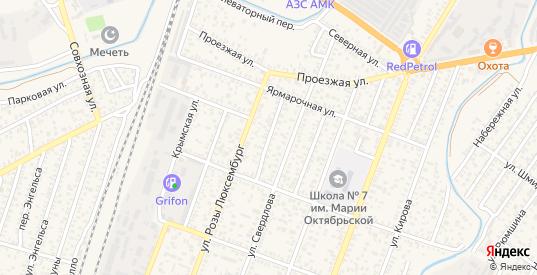 Отрадный переулок в Джанкое с номерами домов на карте. Спутник и схема онлайн