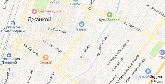 Октябрьский проезд в Джанкое с номерами домов на карте. Спутник и схема онлайн