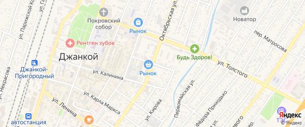 Красноармейская улица на карте Джанкоя с номерами домов