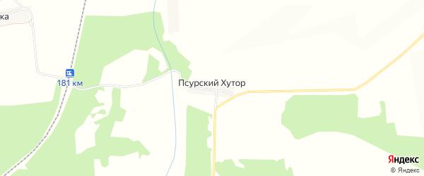 Карта деревни Псурского Хутора в Брянской области с улицами и номерами домов