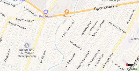 Набережный переулок в Джанкое с номерами домов на карте. Спутник и схема онлайн