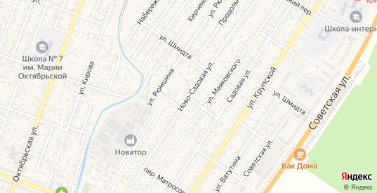 Волжский переулок в Джанкое с номерами домов на карте. Спутник и схема онлайн