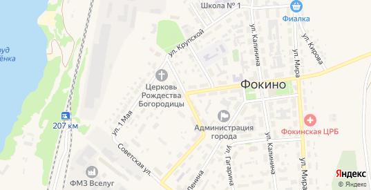 Улица Луначарского в Фокино с номерами домов на карте. Спутник и схема онлайн