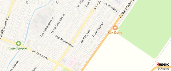 Улица Ватутина на карте Джанкоя с номерами домов