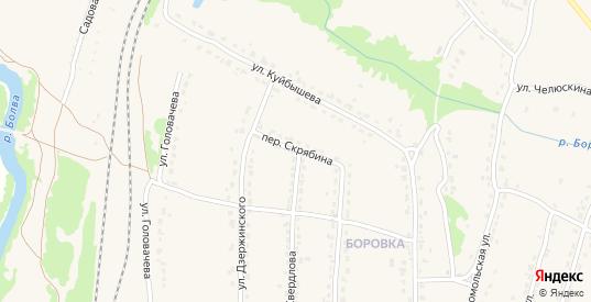 Переулок Скрябина в Фокино с номерами домов на карте. Спутник и схема онлайн