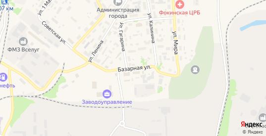 Базарная улица в Фокино с номерами домов на карте. Спутник и схема онлайн