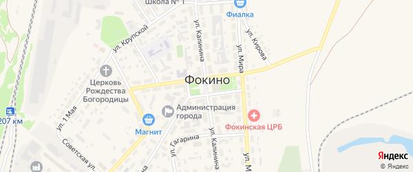 Переулок Володарского на карте Фокино с номерами домов