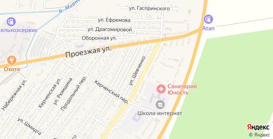 Улица Шевченко в Джанкое с номерами домов на карте. Спутник и схема онлайн