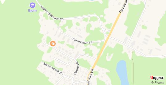 Армейская улица в Медвежьегорске с номерами домов на карте. Спутник и схема онлайн