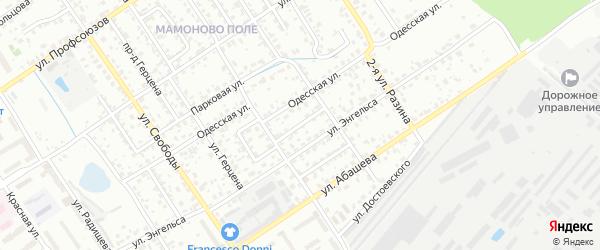 Парковый переулок на карте Брянска с номерами домов