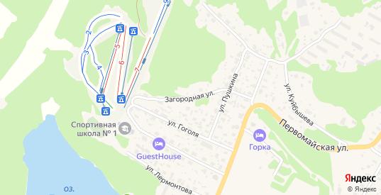 Загородная улица в Медвежьегорске с номерами домов на карте. Спутник и схема онлайн