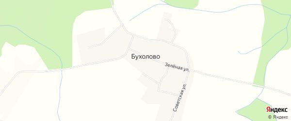 Карта деревни Бухолово в Тверской области с улицами и номерами домов