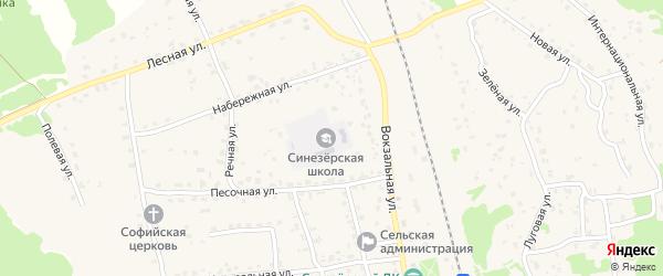 Парковая улица на карте поселка Синезерки с номерами домов