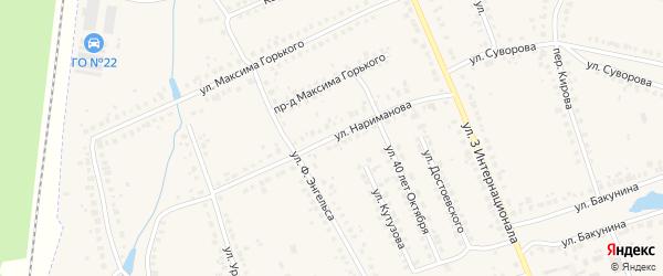 Улица Нариманова на карте Людиново с номерами домов