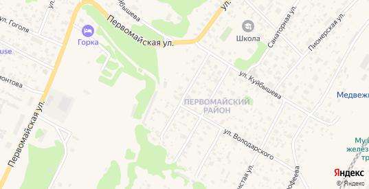 Красноармейская улица в Медвежьегорске с номерами домов на карте. Спутник и схема онлайн