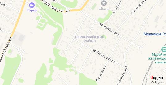 Комсомольская улица в Медвежьегорске с номерами домов на карте. Спутник и схема онлайн