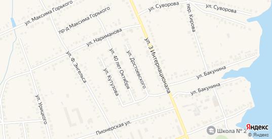 Улица Достоевского в Людиново с номерами домов на карте. Спутник и схема онлайн