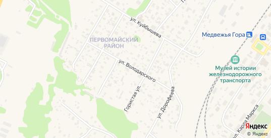Улица Володарского в Медвежьегорске с номерами домов на карте. Спутник и схема онлайн