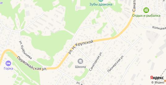 Улица Н.Крупской в Медвежьегорске с номерами домов на карте. Спутник и схема онлайн