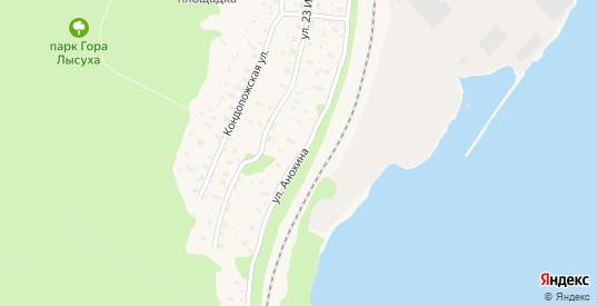 Улица Анохина в Медвежьегорске с номерами домов на карте. Спутник и схема онлайн