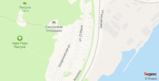 Улица 23 Июня в Медвежьегорске с номерами домов на карте. Спутник и схема онлайн