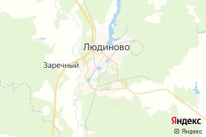 Карта г. Людиново Калужская область