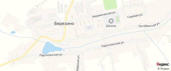 Заводская улица на карте деревни Березино Брянской области с номерами домов