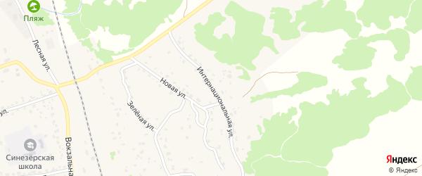 Интернациональная улица на карте поселка Синезерки с номерами домов