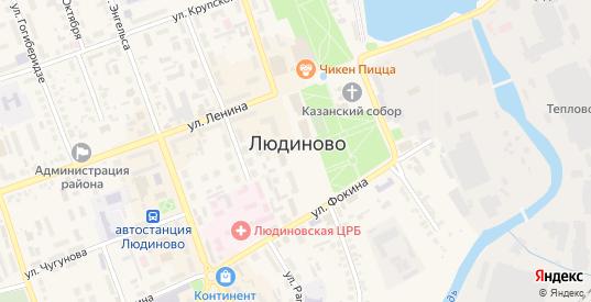 Улица Федора Игнаткина в Людиново с номерами домов на карте. Спутник и схема онлайн