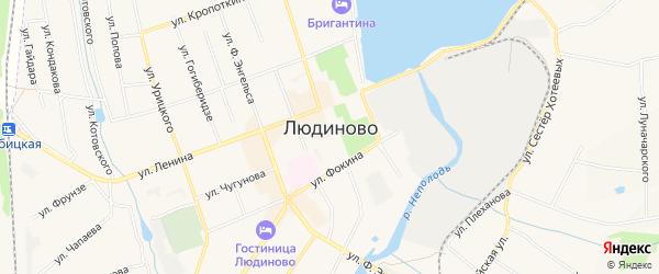 ГСК Динамо на карте Людиново с номерами домов