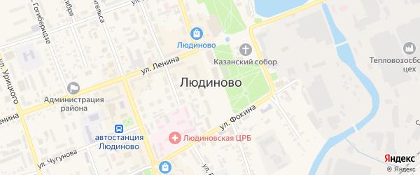 Улица Федора Игнаткина на карте Людиново с номерами домов
