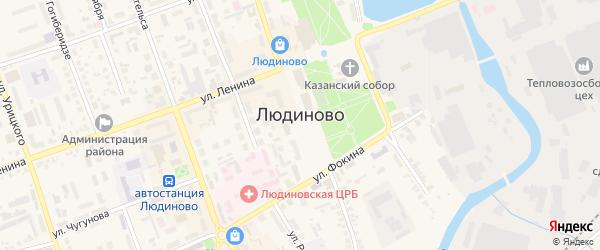 Луговая улица на карте Людиново с номерами домов