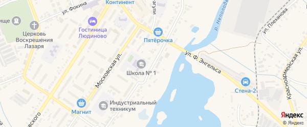 Улица К.Маркса на карте Людиново с номерами домов