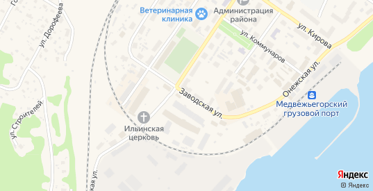 Заводская улица в Медвежьегорске с номерами домов на карте. Спутник и схема онлайн