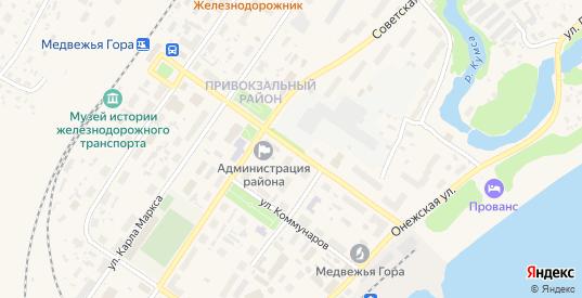 Улица Кирова в Медвежьегорске с номерами домов на карте. Спутник и схема онлайн