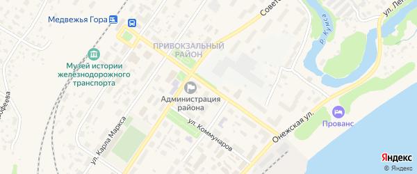Улица Кирова на карте Медвежьегорска с номерами домов