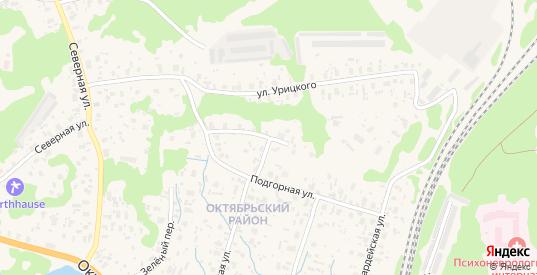 Подгорная улица в Медвежьегорске с номерами домов на карте. Спутник и схема онлайн