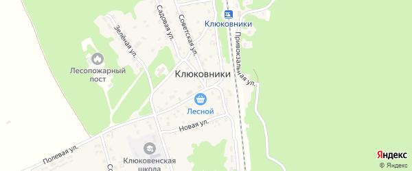 2-й Привокзальный переулок на карте поселка Клюковники с номерами домов