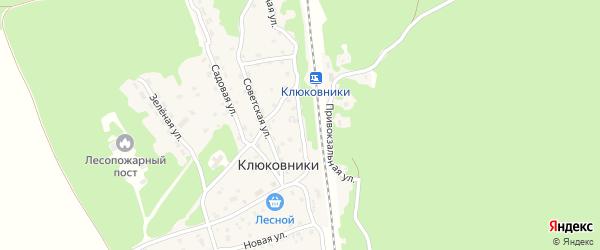 Привокзальная улица на карте поселка Клюковники с номерами домов