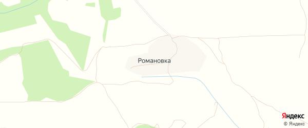 Карта деревни Романовки в Брянской области с улицами и номерами домов