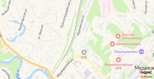 Мурманская улица в Медвежьегорске с номерами домов на карте. Спутник и схема онлайн