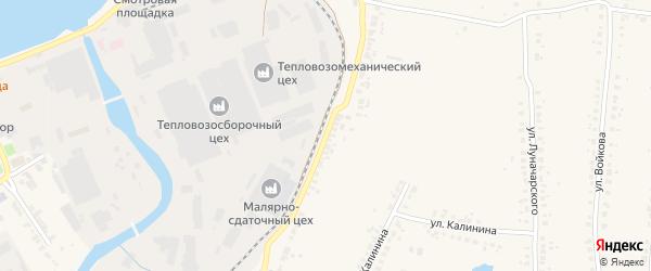 Улица Сестер Хотеевых на карте Людиново с номерами домов