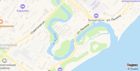 Кумсинский переулок в Медвежьегорске с номерами домов на карте. Спутник и схема онлайн