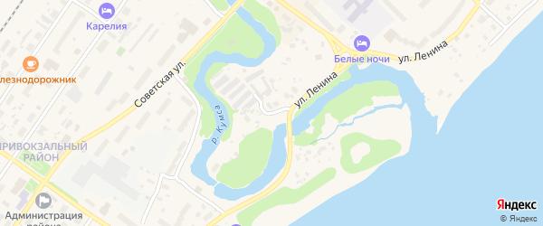 Кумсинский переулок на карте Медвежьегорска с номерами домов