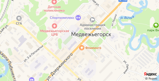 Улица Солунина в Медвежьегорске с номерами домов на карте. Спутник и схема онлайн