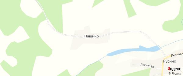 Карта деревни Пашино в Тверской области с улицами и номерами домов