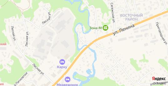 Речной переулок в Медвежьегорске с номерами домов на карте. Спутник и схема онлайн