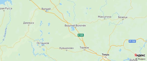 Карта Вышневолоцкого района Тверской области с городами и населенными пунктами