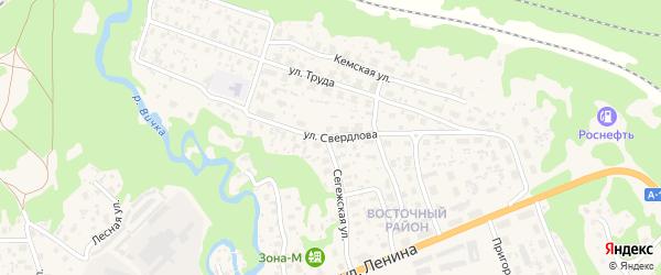 Улица Свердлова на карте Медвежьегорска с номерами домов