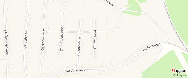 Улица Полякова на карте Людиново с номерами домов